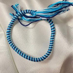Unisex Tidal Waves Woven Bracelet handmade